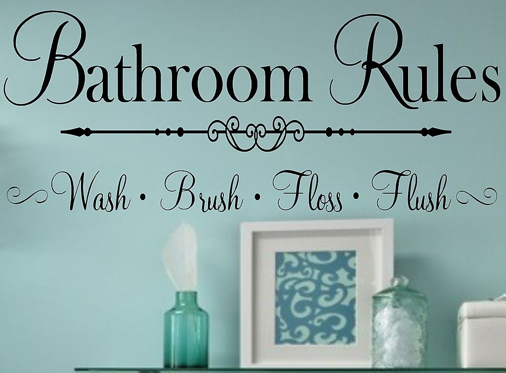 Bathroom Rules Vinyl Wall Decal Lettering Home Decor In Wall Stickers From  Home U0026 Garden On Aliexpress.com | Alibaba Group