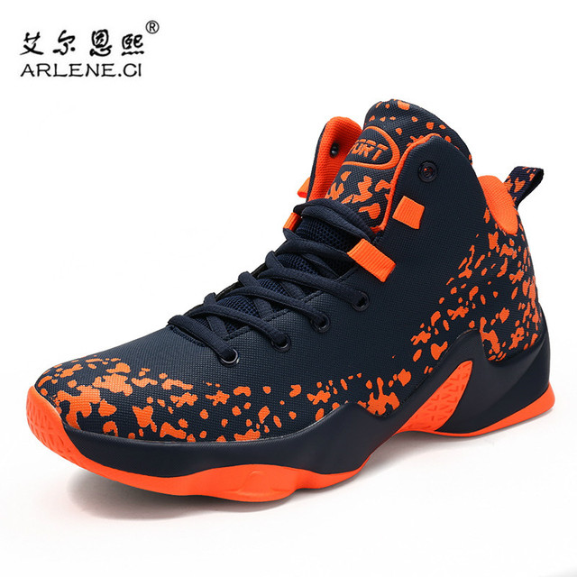 New Brand High Top Basketball Shoes For Men Athletic Outdoor Sports Shoes Male Sneakers Ankle