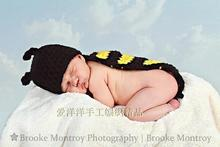 Free shipping 100% Cotton NEW Crochet Baby Hats Bee Hat for Handmade Animal Model Hat,Bee hat