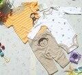 Niños y niñas trajes de bebé, juegos del verano del bebé, juegos de los niños de tres piezas de alta calidad, dos piezas de ropa, un par de pantalones.
