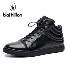 Blaibilton 2017 Brand British Luxury 100% Genuine Leather Men Shoes High Top Quality Fashion Mens Shoes Casual Designer SD6172