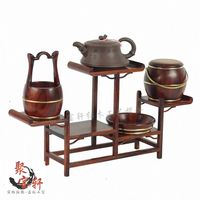 Classical furniture of annatto handicraft solid wood antique carved wooden furnishing articles modern display case