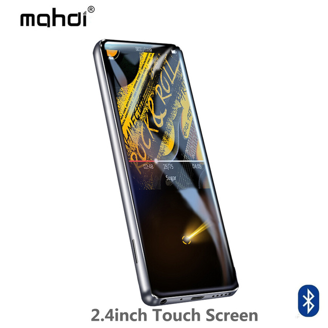Mahdi M600 HiFi Bluetooth MP3 music player HD touch screen Video player Portable Slim with Built-in Speaker FM Radio APE Flac