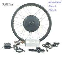 Nuevo Algún día 48V1000W bicicleta eléctrica BLDC bicicleta de nieve con pantalla LED900S neumático de Bicicleta electrónica