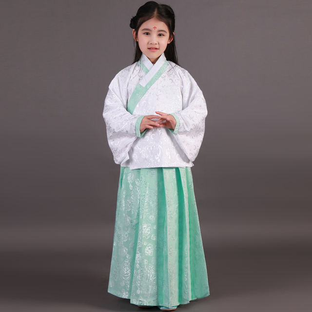19777343adc62 High Quality Child Performance Stage Costume Fairy Ancient Princess  Classical Hanfu Chinese Folk Dance Traditional Costume Dress-in Chinese  Folk Dance ...