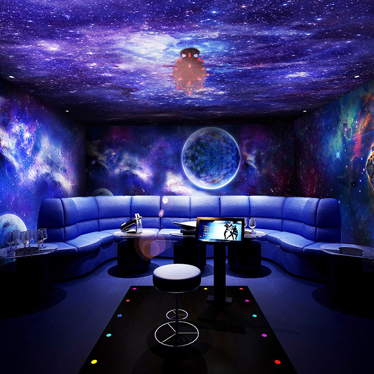 Lounge Bar KTV Rooms Roof Ceiling Wallpaper 3D Stereoscopic Large Mural Wallp