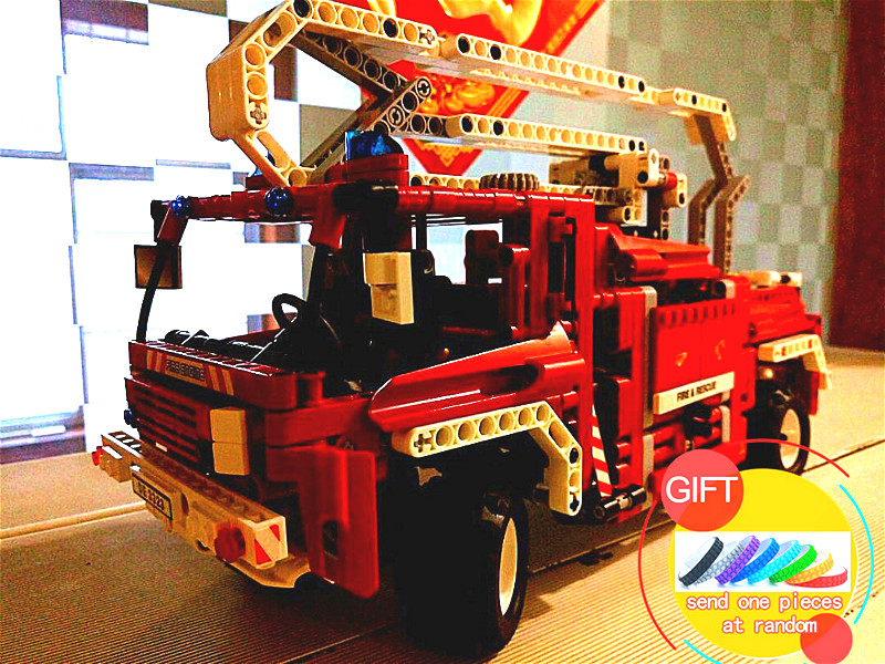 3323 1036pcs Technical Fire Truck Lorry decool set Building Block Compatible with 8289 Toys for children Model Car Gift lepin lepin 02005 volcano exploration base building bricks toys for children game model car gift compatible with decool 60124