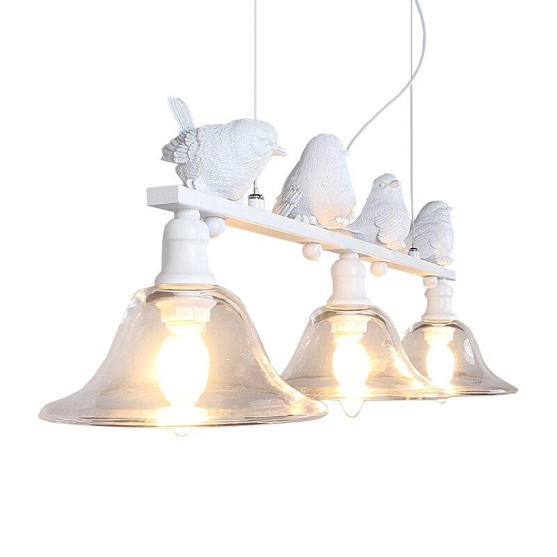 LBAH Contemporaneo e contratto rurale ristorante lampada a sospensione droplight tre personalità creativa bar lampade a led uccelli droplight