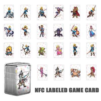 ALLOYSEED 22 Uds. NTAG215 NFC Legend Card 22 Hero, tarjeta de Lobo con etiqueta de corazón para la leyenda de Zelda Breath of the Wild NS, consola de interruptores