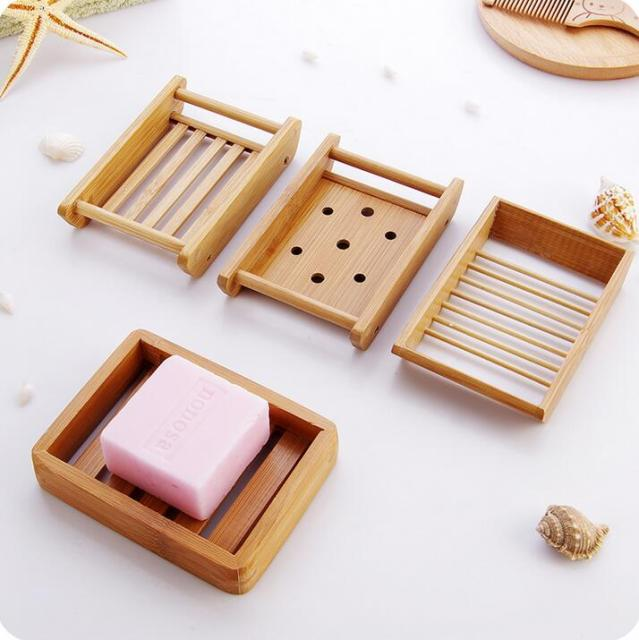 Brief Handmade Bamboo Soap Storage Box Bathroom Japan