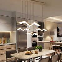 Néo Gleam moderne pendentif LED lumières pour salle à manger salon Bar suspension luminaire suspendu luminaires suspendus