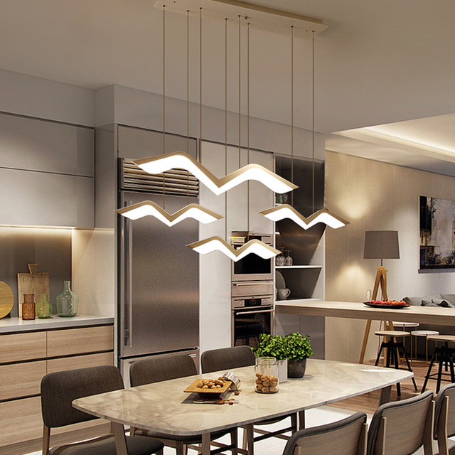 Más barato NEO brillo moderno Led colgante luces para comedor ...