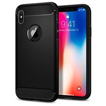 100% الأصلي وعرة درع حقيبة لهاتف أي فون X/Xs الكربون الألياف تصميم دائم مرنة الحالات مع التجزئة حزمة