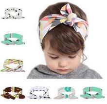 JRFSD Flower Floral Hairband Turban Rabbit Bow knot Headband Headwear Hair Bands Hair Accessories
