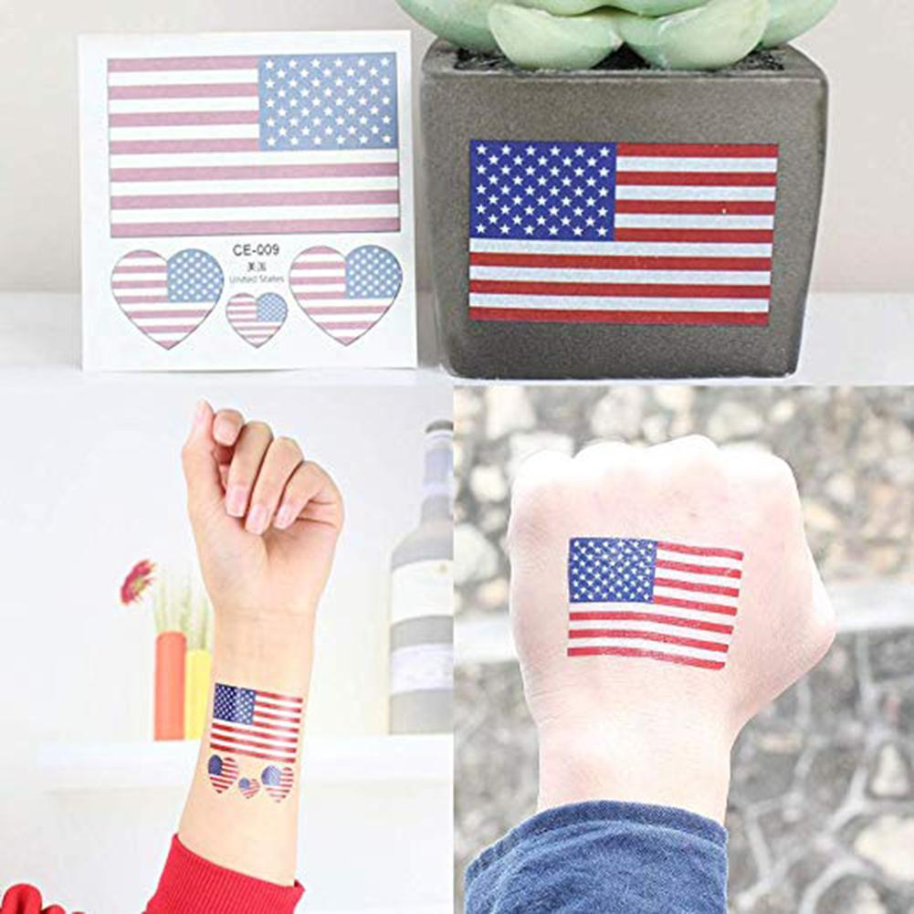 24 sheets Temporary Patriotic Tattoos Stickers Fourth of July Tattoos Independence Day Party Accessories in Temporary Tattoos from Beauty Health