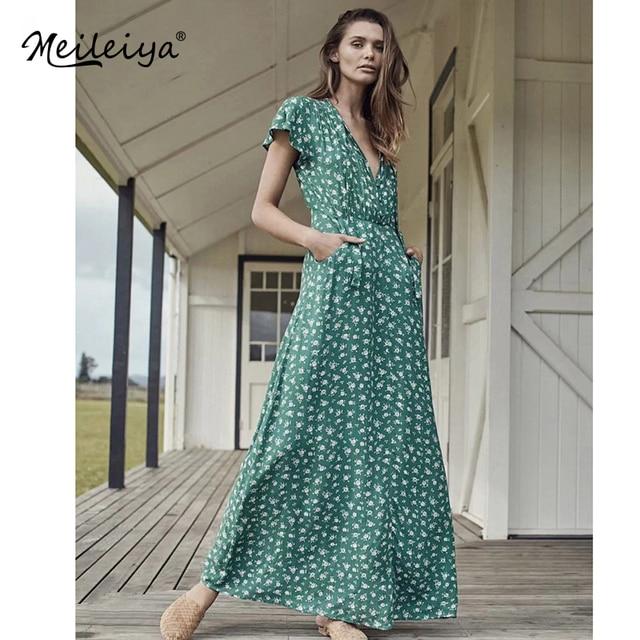 77fc1f802 Venta barata Vintage bohemio Maxi Vestido túnica mujer Boho de las ...