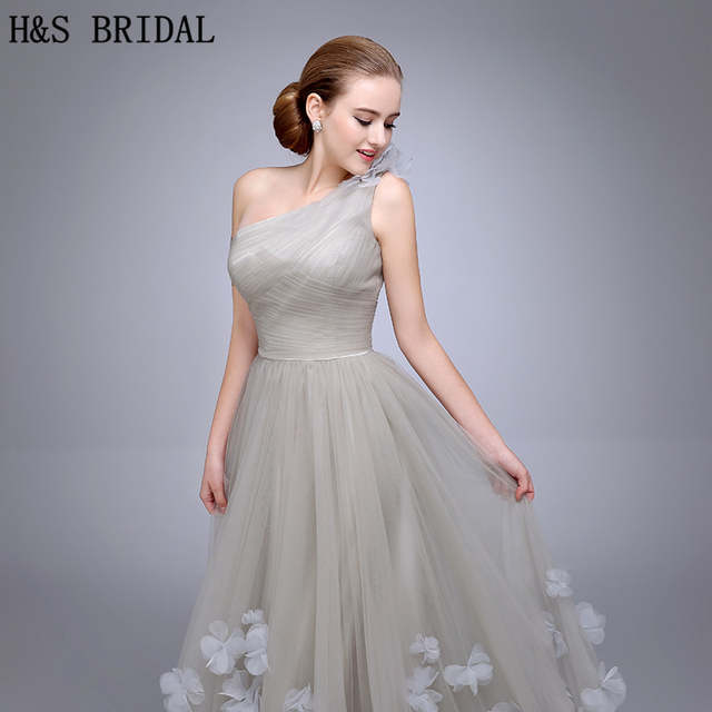334a8a9ab77b4 HS11 One Shoulder Evening Gown Ladies Evening Dress 2019 Floral A Line  Evening Party Flowers Prom Dresses vestidos de fiesta -in Evening Dresses  from ...