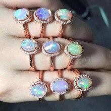 [MeiBaPJ doğal Opal taş moda yüzük kadınlar için gerçek 925 ayar gümüş Charm güzel takı