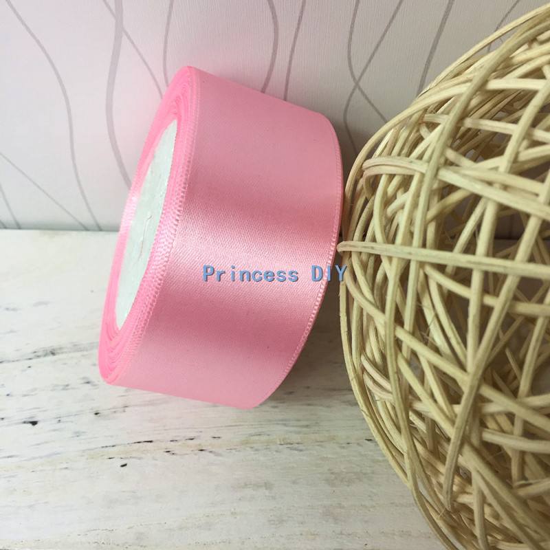 25Yard Silk Satin Ribbon Wedding Party Decor Wrapping Xmas Apparel Sewing Pi UR