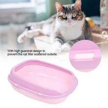 Pet Cat Dog Toilet Bedpan Cat Litter Box Cat Dog Tray Anti- Toilette Puppy Cat Indoor Home Plastic Sandbox(China)