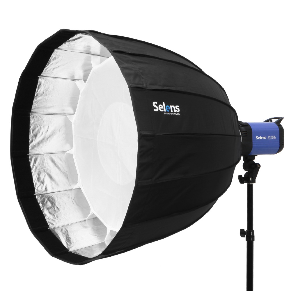 120cm 16-Rib Deep Parabolic Umbrella Hexadecagon Softbox Foldable Quick Release For Flash Speedlight Speedlite Photo Studio