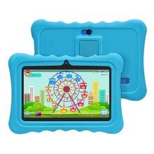 Yuntab azul Q88H Niños pantalla táctil Tablet PC, niños Juegos y Aplicaciones de Software Para la Educación Pre-instalado con Control de Matriz de Alta Calidad
