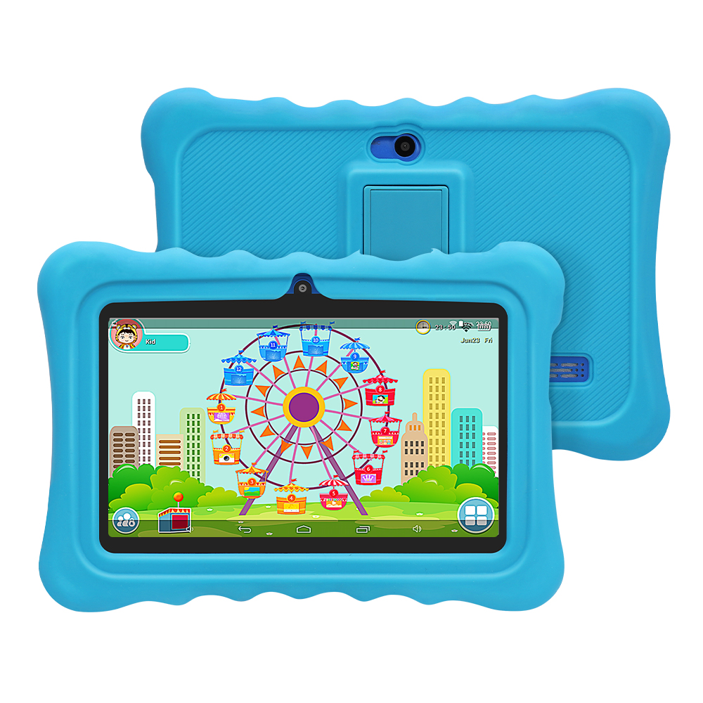 Yuntab blue Q88H touch screen Kids Tablet PC, Kids Software Pre-Installed Educational Game Apps with Premium Parent Control image