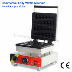 Lolly Waffle Machine Electric Long Waffle Maker Non-stick Commercial 1500W Pine Tree Type Waffle Making 110V 220V Brand New