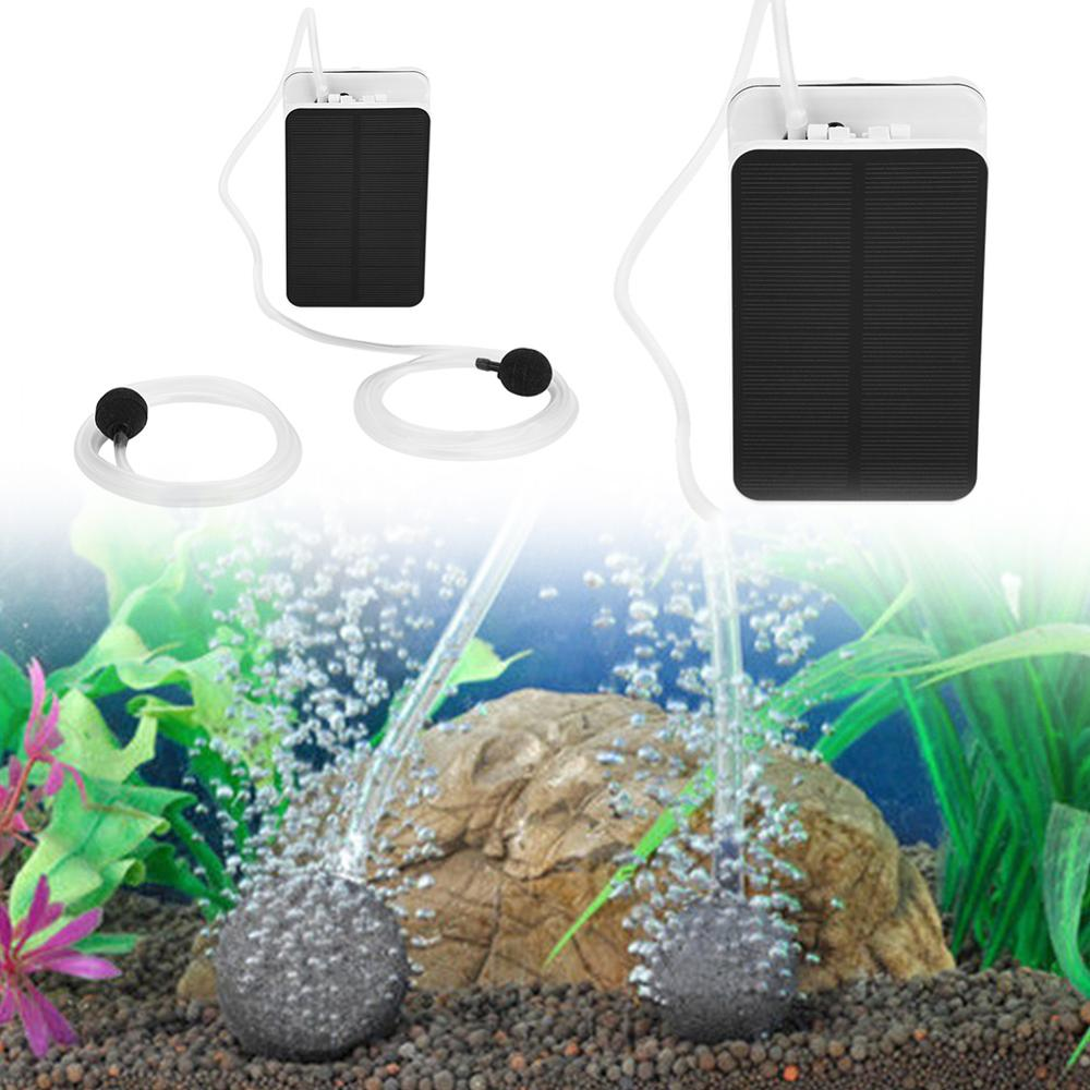 Solar Power Panel Oxygen Oxygenator Air Pump Oxygen Aerator Pool Pond US Q3H0