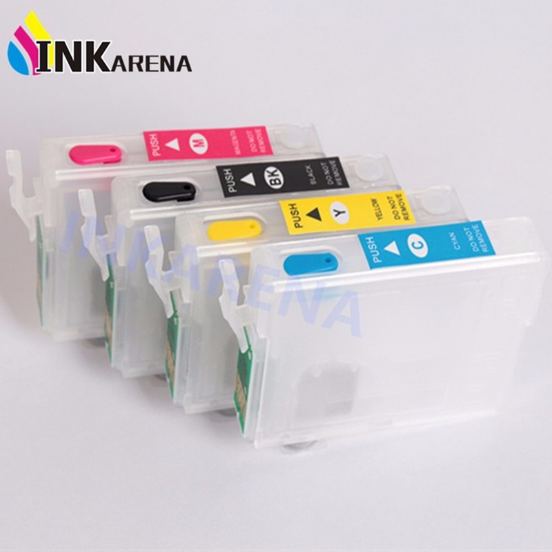 Empty T0631 Refillable Ink Cartridge For Epson Stylus C67 C87 C87PE CX4100 CX4700 CX3700 Inkjet Printer With Auto Reset Chip 800 wires soft silver occ alloy teflo aft earphone cable for ultimate ears ue tf10 sf3 sf5 5eb 5pro triplefi 15vm ln005407