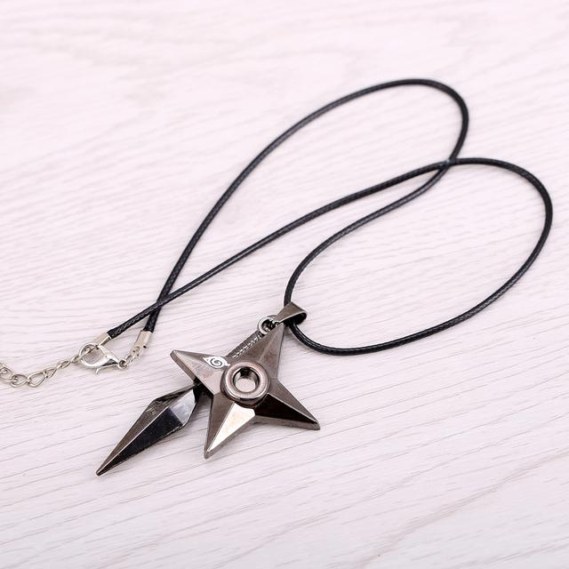 Naruto shuriken Ninja Pendant & Necklace