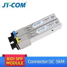 1G 5KM SM SC Connector SFP Transceiver Module Gigabit Single Mode Single Fiber Optical Ethernet Compatible with Cisco Switch 20(China)