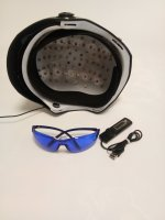 68 medical diode laser 650nm hair regrowth helmet with glasses + timer