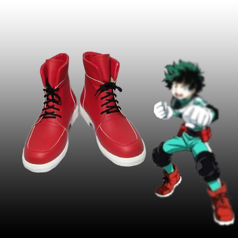 My Hero Academia Boku No Hero Academia Men Women Midoriya Izuku Deku Cosplay Red Ankle Boots Shoes Spring Summer Casual Shoes