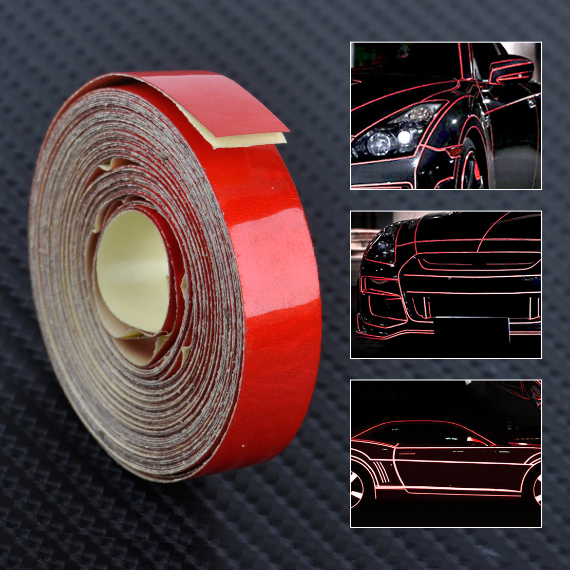 8M x 1CM Reflective Sticker Tape Car Truck Body DIY Self Adhesive Decal Stripe