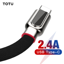 TOTU USB Type C Cable Carbon Fiber 2.4A Fast Charging Type-C USB-C Data Charger Cord For Xiaomi Oneplus 2 Zuk Z2 NEXUS 5X 6P