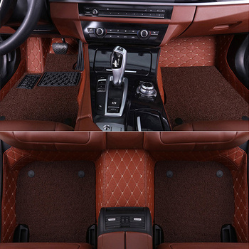 SUNNY FOX Car floor mats special for Audi A4 B5 B6 B7 B8 allraod Avant A3 A6 C6 C7 A7 A8 Q3 Q5 Q7 5D car styling carpet rugs  image