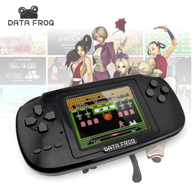 2017 daten Frosch Tragbare Handheld Spiel Spieler Gaming Konsolen Gebaut In 168 Klassische Spiele Für Kinder Beste Geschenk Video Spiel