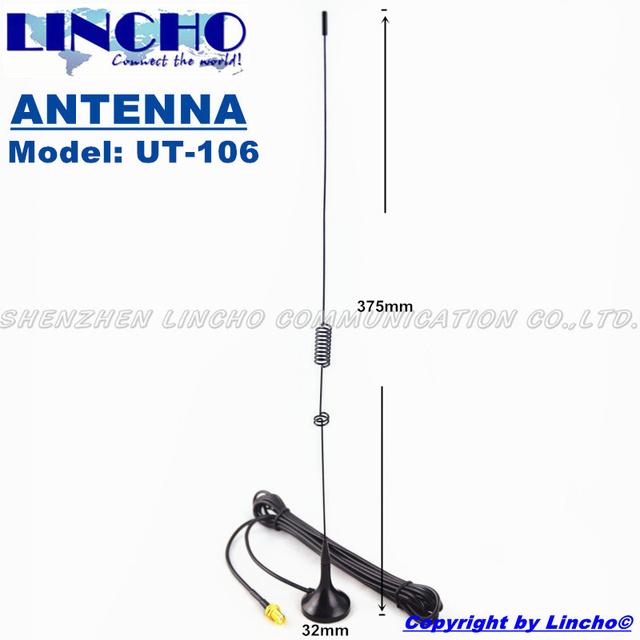 UT-106 SMA Feminino DUAL BAND MÓVEL Antena walkie talkie PUXING WOUXUN BAOFENG