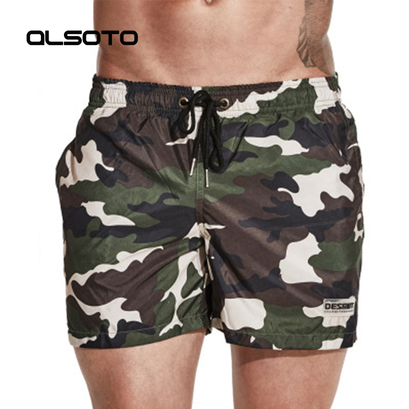 ALSOTO Summer style Beach Shorts for man Quick-drying loose Camouflage surfing seaside Sunbathing jogging Sports sportswear