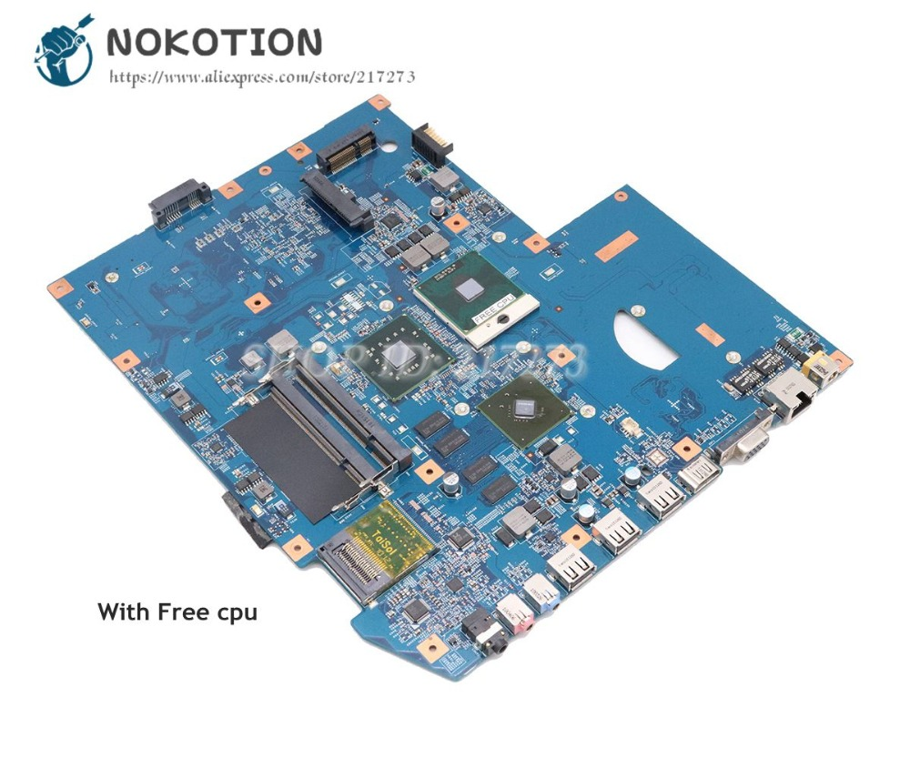 NOKOTION For Acer aspire 7736 7736G Laptop Motherboard DDR2 PM45 Free cpu JV71-MV MB 09242-1M 48.4FX01.01M MBPJA01002 Main Board nuokexin laptop motherboard for acer aspire 4735 4935 kalh0 la 4492p mbwaz02001 mb waz02 001 geforce 9300m ddr2 free cpu
