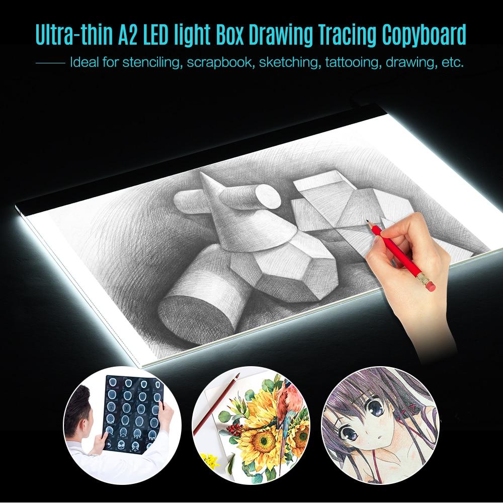 A2 Grand Ultra-mince led coussin de lumière Boîte Peinture Traçage Panneau Copyboard pour Bande Dessinée Calque Tatouage tablette de dessin tablette graphique