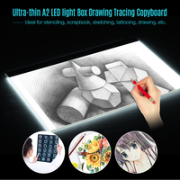 A2 Large Ultra thin LED Light Pad Box Painting Tracing Panel Copyboard for Cartoon Tattoo Tracing Drawing Tablet Graphic Tablet