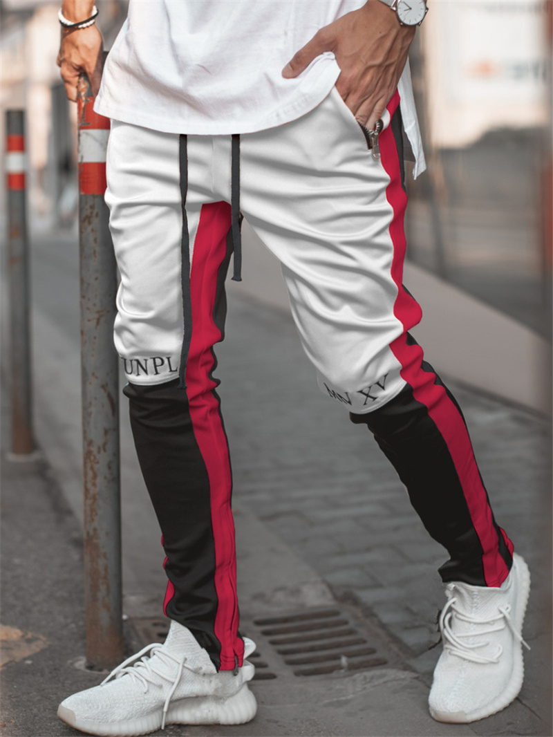 2019 New Autumn Brand Gym Sport Pants Men Jogger Patchwork Fitness Bodybuilding Mens Running Pants Runners Clothing Sweatpants