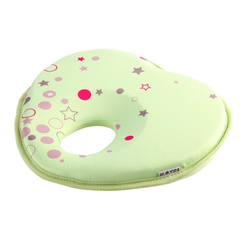 Baby Pillow Lovely Newborn Toddler Safe Anti Roll Baby Infant Pillow Sleep Head Positioner Preventing Flat Head
