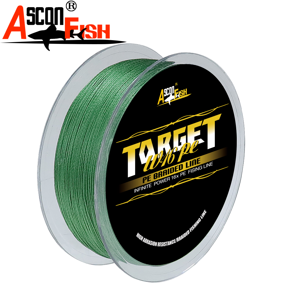 Image 3 - Ascon Fish 16 Strands Braided Fishing Line 300m for Cord Fishing Capr 16 Braids Multifilament Line20 500LB Green-in Fishing Lines from Sports & Entertainment