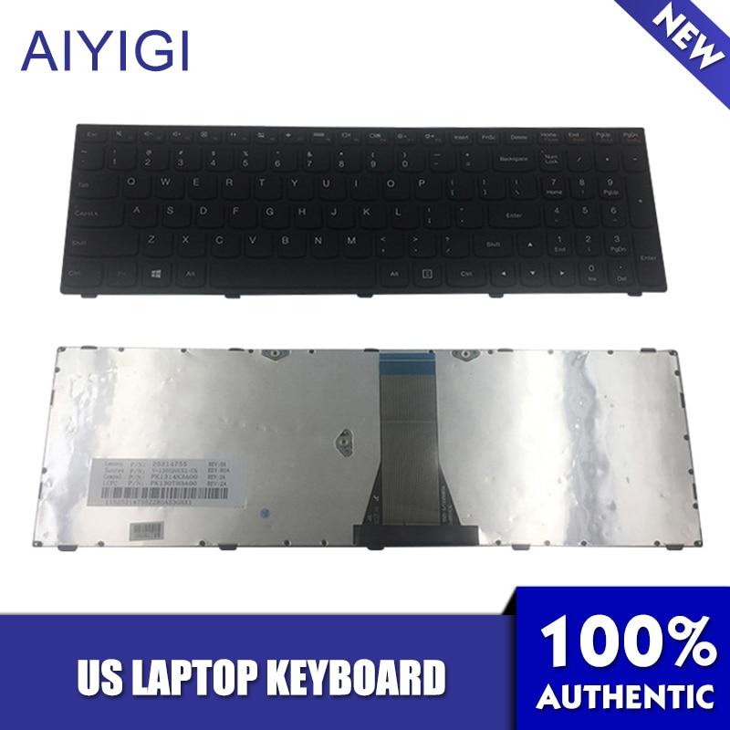 AIYIGI US Noir Clavier D'ordinateur Portable pour Lenovo IdeaPad G50 G50-70 G50-45 G50-70AT G50-30 G50-70m Z50 Z50-70 Z50-75 B50 B50-30 B50-70
