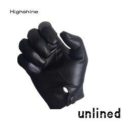 Highshine mann handgelenk taste eine ganze stück von schafe leder handschuhe schwarz und braun
