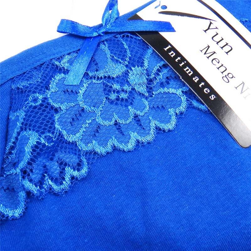 21929af23b 5 pcs lot Women Underwear Thongs Ladies Briefs M L XL Sexy Lace Thongs  Cotton Women s