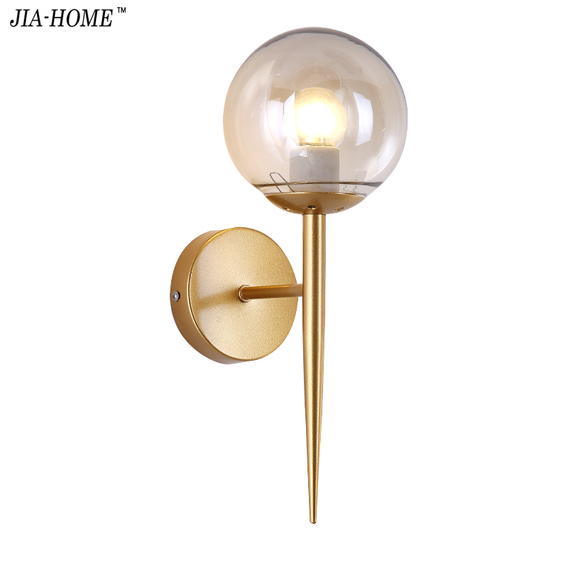 Optoelectronic Products JU Crystal Wall Lamp Bedside Lamp Double Head Simple Creative Bedroom Living Room Staircase Aisle Balcony Led Wall Lamp